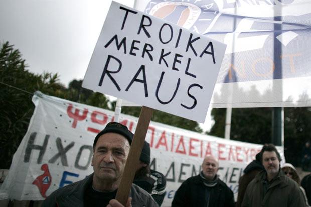 H Μέρκελ στην Αθήνα: «Ράους»